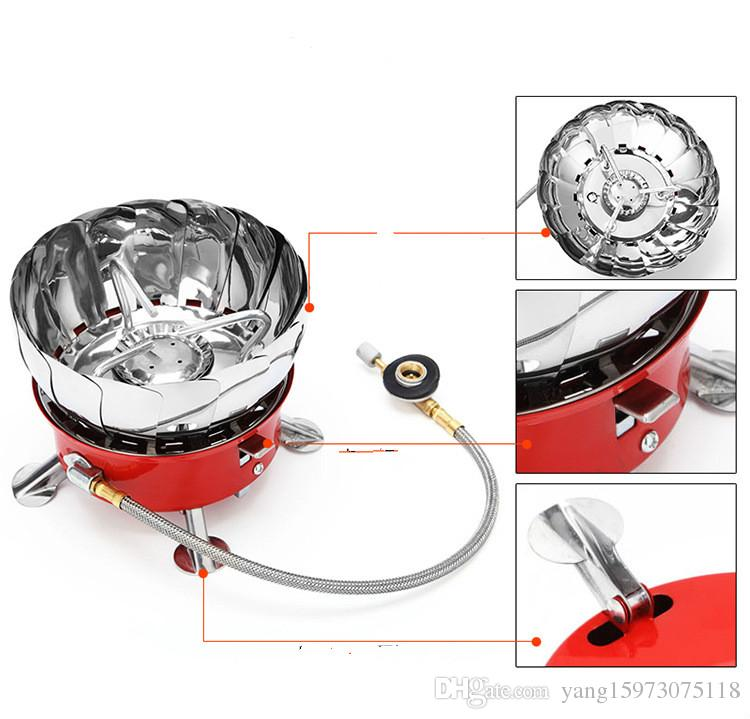 AOTU New Arrival Lotus Outdoor Stove with A Tube Furnace Wind Camping Gas Windproof Hiking Camping Stoves 140