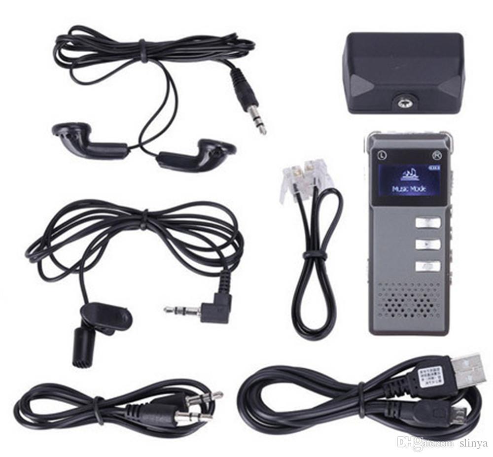 / Lega Multi-funzione VOR Line-In 8GB Digital Voice Recorder USB Audio Recorder