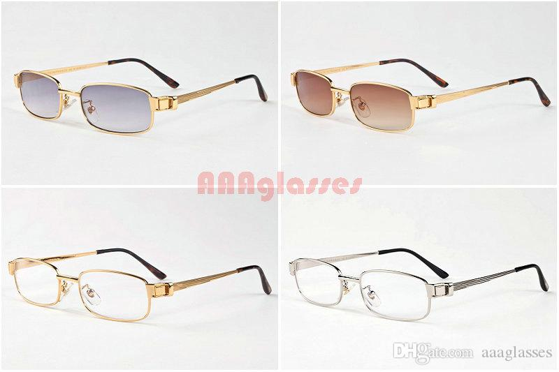 f89736e0d68 Gold Silver Rimless Sunglasses For Mens Womens Coating Alloy Frames Clear  Lens Optical Glasses 2017 Vintage Retro Buffalo Sunglasses Lunette UK 2019  From ...