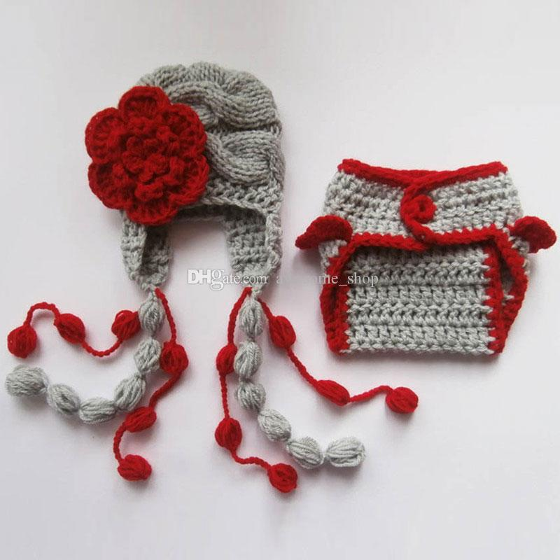 Compre Malha Cinza Vermelho Bebê Menina Roupa 8182add928e