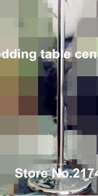 Altın düğün centerpiece akrilik boncuk teller, 60 cm boyunda akrilik kristal çiçek düğün masa dekor için standı.