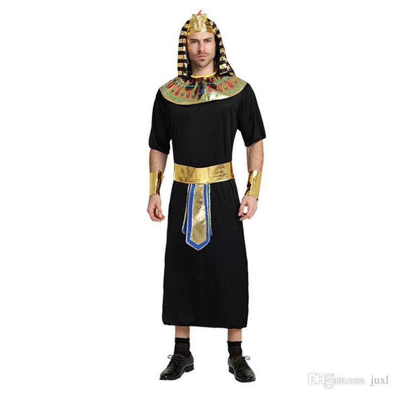 Ragazzi Faraone Egiziano King Costume in Nero