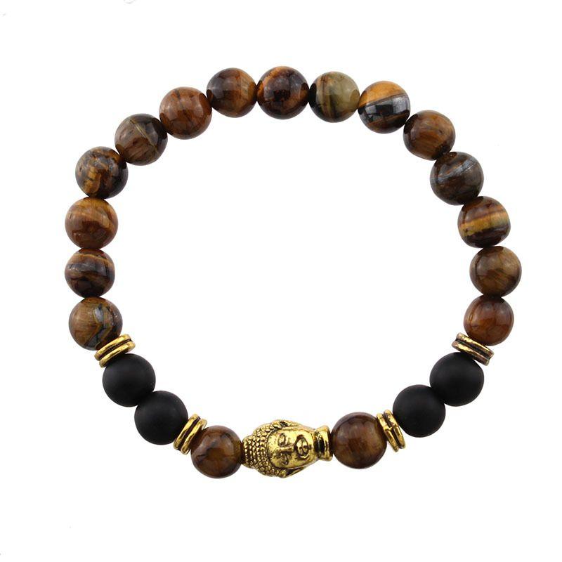 8mm Mala Buddha Bracelet 7 Chakra Yoga Alloy Crystal Stone Bracelet Chakra Energy Bracelets 9 Charm Styles Christmas Gift B350S