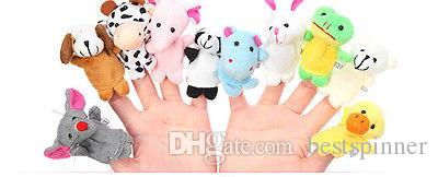 Tier Fingerpuppe Cartoon Stofftiere für Kinder Geschichte Sprechen Helfer Früherziehung Plüsch Spielzeug 10 stücke ein satz