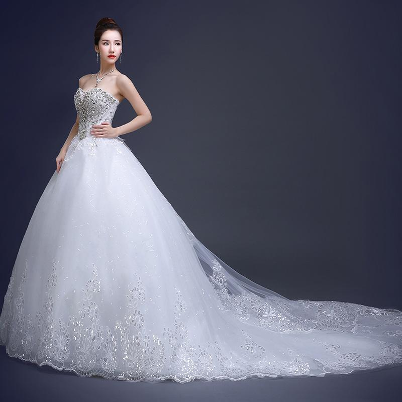 Compre 2017 Nuevo Vestido De Boda De Lujo Coreano Del Diamante Del ...