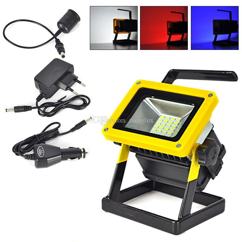 Hand held 10w rechargeable smd led floodlights 18650 battery powered hand held 10w rechargeable smd led floodlights 18650 battery powered led flood work light waterproof for emergency and outdoor lighting truck flood lights mozeypictures Choice Image
