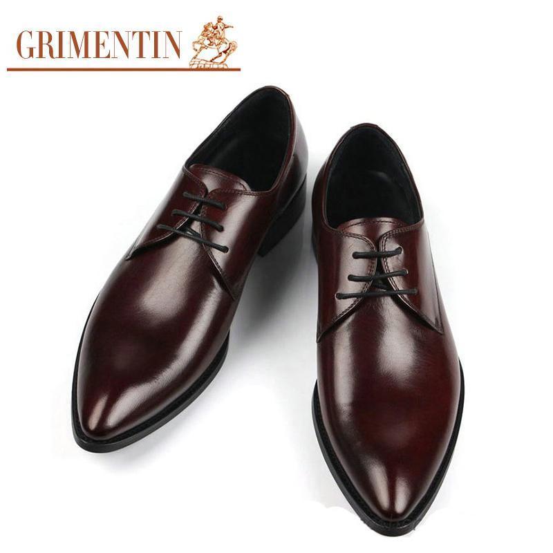14ffcf3aba026f Acheter 2017 Italien Mode Hommes Affaires En Cuir Chaussures Casual ...
