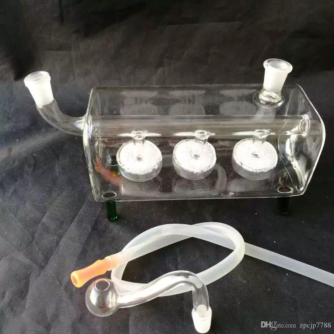 Transparent pneu horizontal tuyau narguilé bongs accessoires, unique brûleur à mazout En Verre Bongs Tuyaux Tuyaux D'eau En Verre Tuyau plates-formes D'huile de fumer avec