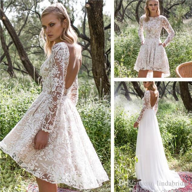 Großhandel Hochzeitskleid Mit Abnehmbarem Rock Billig Modest Long ...