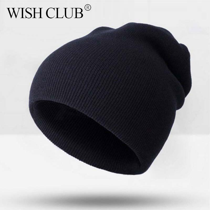 cddef0bfe00 Wish Club Fashion Winter Hats For Women Knitted Solid Cap Unisex ...
