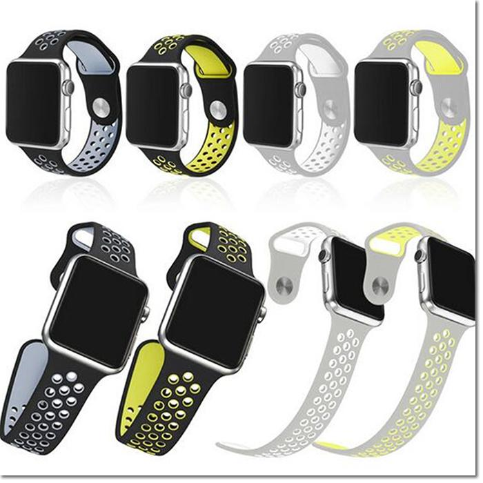 New Design Rubber Silicon Sports Bands For Apple Watch Series 2 Band
