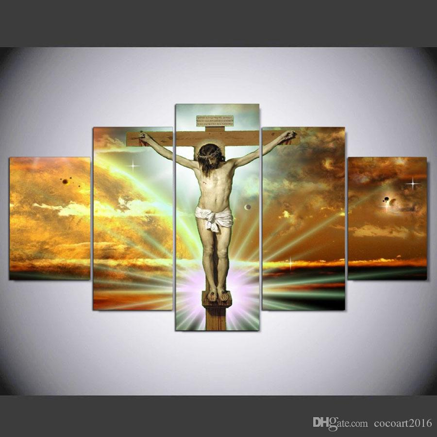 2017 framed hd printed jesus on the cross figure canvas artwork