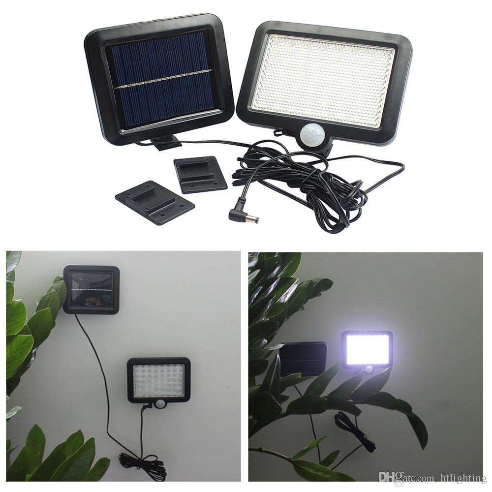 bianco freddo caldo bianco 56 LED LED Solar Powered PIR corpo sensore di movimento solare proiettori giardino lampade da parete di sicurezza esterna lampada