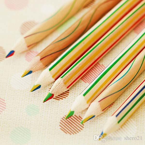 4 colori in 1 arcobaleno Set di matite colorate 10 pezzi disegnare e colorare per scrivere