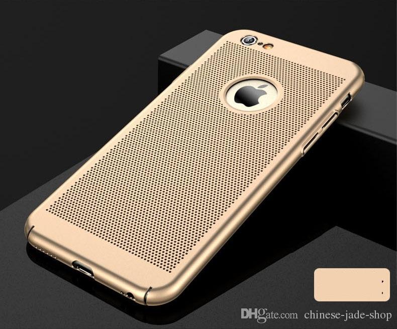 Full Cover Matt Slim Hard PC Mesh Case für iPhone XS max 6 6 s 7 8 Plus Gitter Aushöhlen Hülle 100