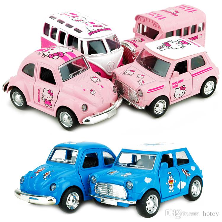 2017 lovely alloy hello kitty retro cars kids toys science discovery montessori educational toy fidget cube anti stress magic tricks from hotoy