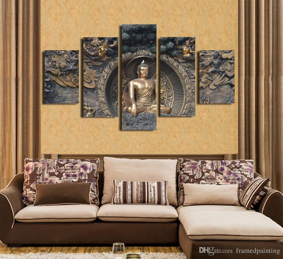 Framed HD Printed Buddha Statue Picture Wall Art Canvas Print Decor Poster Canvas Oil Painting