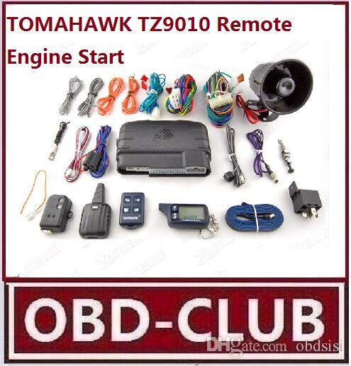 2017 Promotion Free shipping LCD remote engine start TOMAHAWK TZ9010 2-way car alarm system TOMAHAWK TZ9010 Remote system Russia