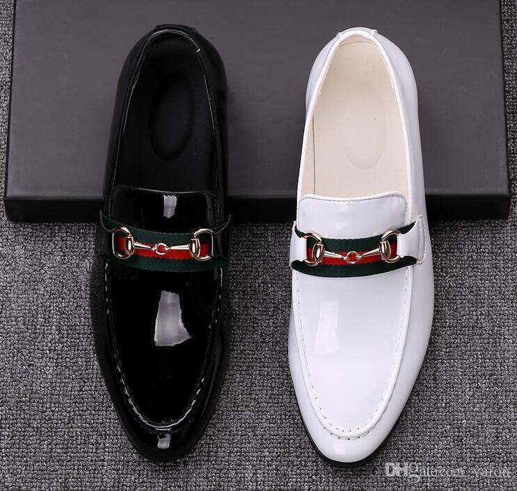 97b79198a0e Men Fashion Trendsetter Black White Comfortable Oxford Shoes Loafers Man  Wedding Dress Homecoming Formal Shoes For Male GG557 Wholesale Shoes Black  Shoes ...