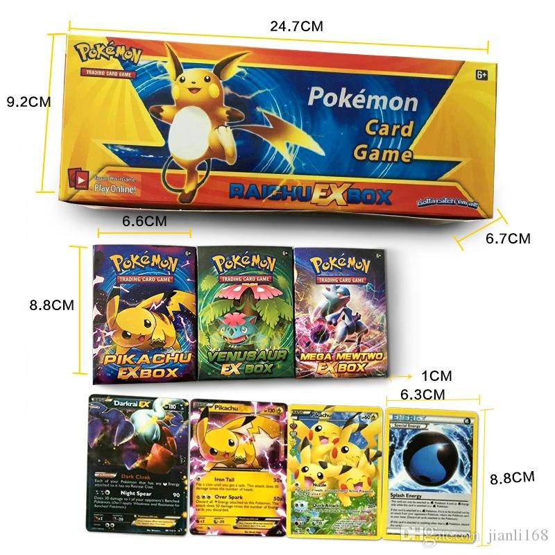 2017 Poke Card series 408 pcs = 24 BOX = a lot children adult Poke English card toy game trade card games A602818