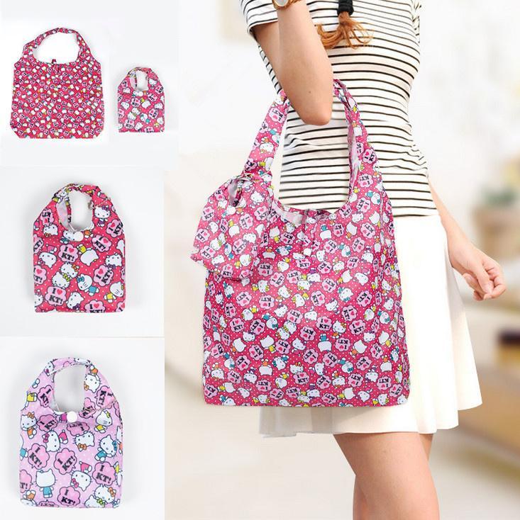 be1288ad5a7b Wholesale- NEW - Hello Kitty Foldable Lady Women s Handbag ...