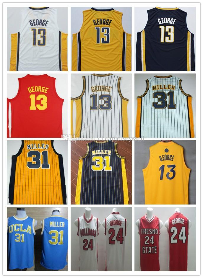 da9b624a ... promo code for 2018 super stitched 13 paul george jersey basketball  hickory red dark blue yellow