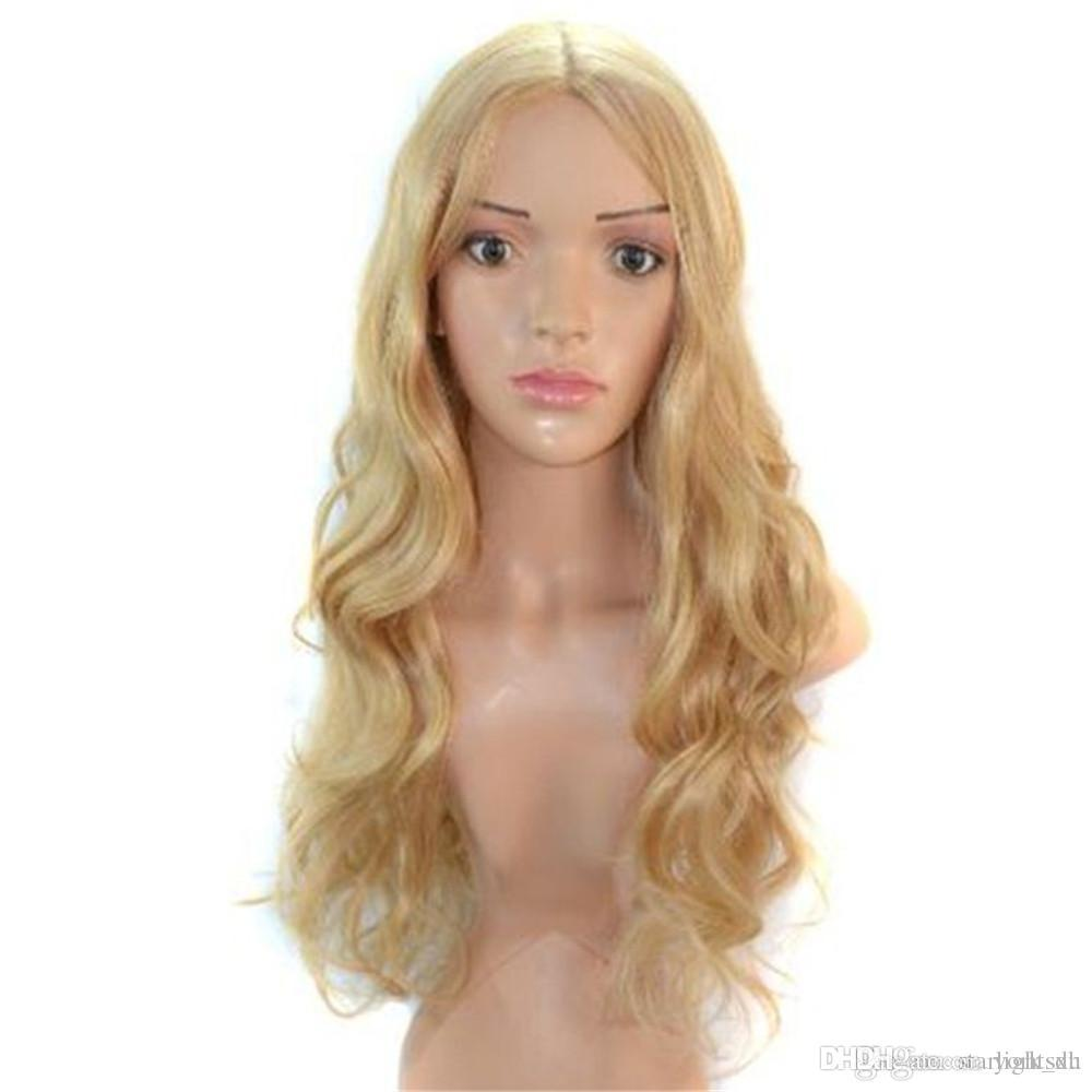 Fashion Blonde Curly Hair Lace front Fake Wig for Women s Styles ... f2361f026c2b