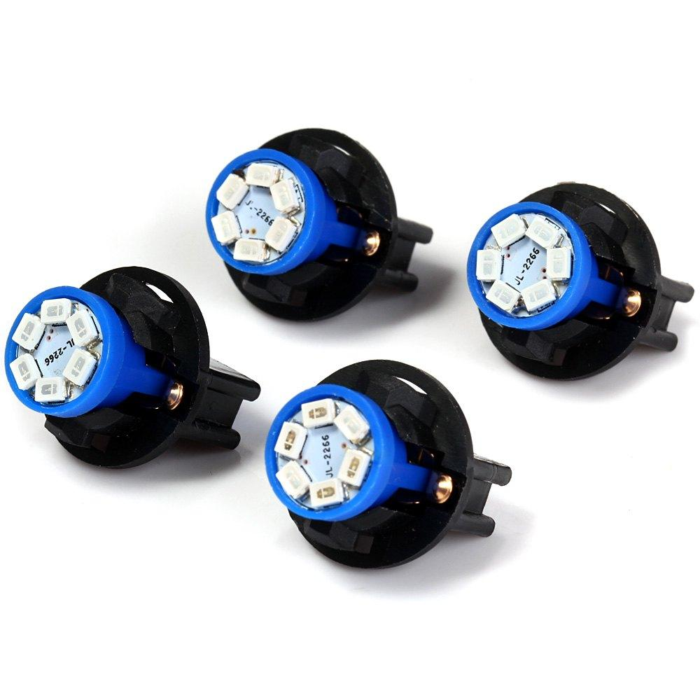 Al por mayor-4pcs T10 SMD 1210 6 LED Twist Socket Panel de instrumentos Dash Dash Bombilla blanco rojo azul verde para LED Panel de instrumentos Panel de instrumentos