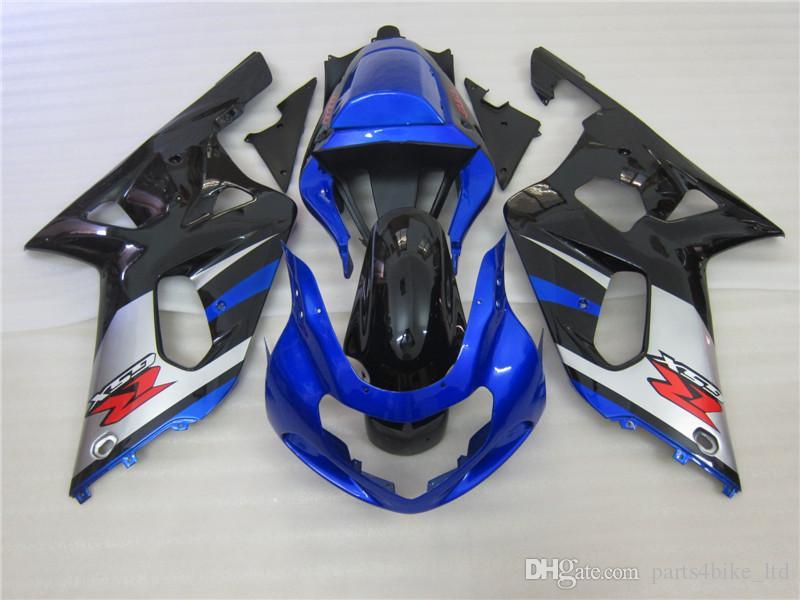 Suzuki 2001 2002 2003 GSXR 600 750 GSX-R600 GSX-R750 K1ブルーブラックフェアリング413A