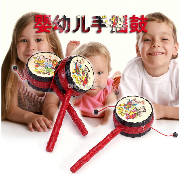 Großhandelskinderspielzeug, gute verheißungsvolle Wellentrommel der guten Qualität, Babyrassel