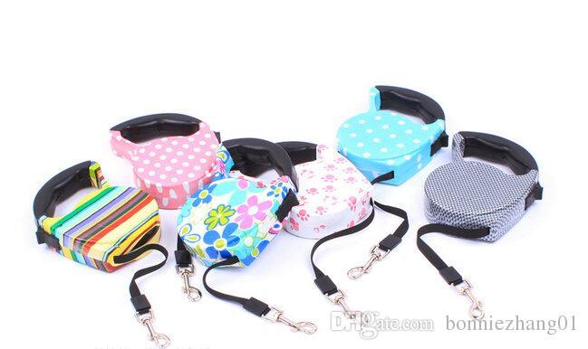 BEST Sale Pet Leash Retractable cat Collar Extendable leash Products Dog Harness Dele Pet Dog Chain Collars 5M