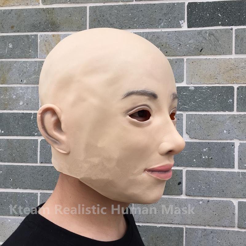 Top Grade 100% Latex Cross Dressing Party Mask Rubber Latex Halloween Female Mask Wholesaler Realistic Beckham Mask