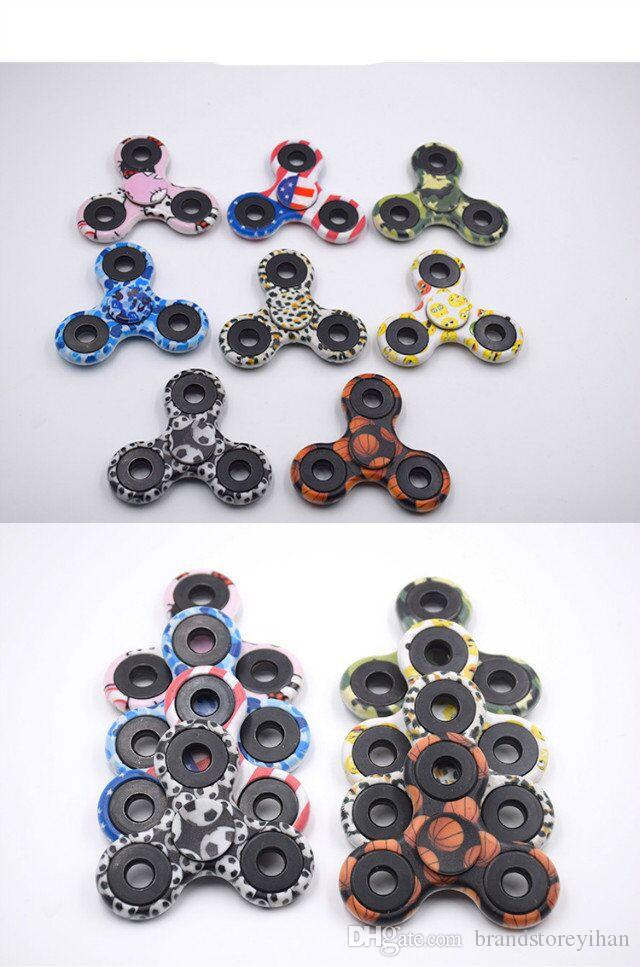 NEW Camouflage gyro Hand toy Spinners Fingertips Spiral Fingers Hand Spinner Acrylic Plastic Fidgets Toys Gyro Toys