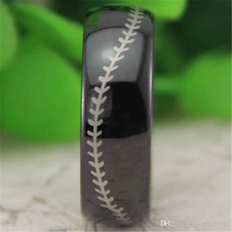 Venta al por mayor directa china de fábrica negro láser grabado banda de carburo de tungsteno anillo de dedo de moda anillo de joyería de tungsteno 8 mm