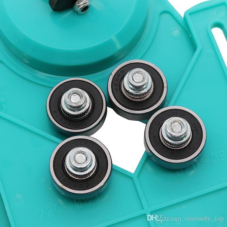 Nueva ajustable 4-83mm Diamante broca agujero de vidrio agujero vio Core Bit Guide con base de vacío Lechón azulejo aberturas de vidrio Localizador