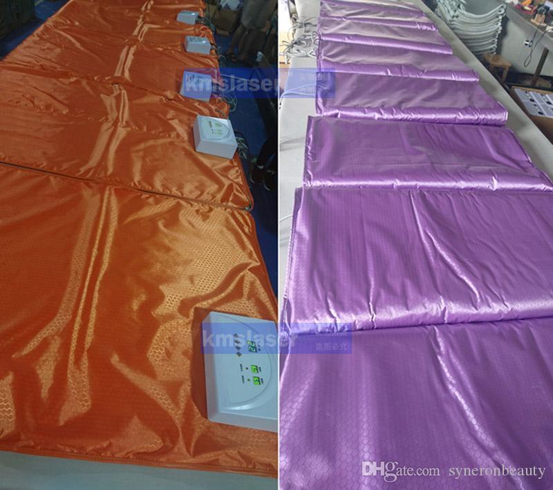 Fat burning Waterproof 2 Zones Far Infrared Blanket Sauna Slimming weight loss heating therapy/slimming machine/