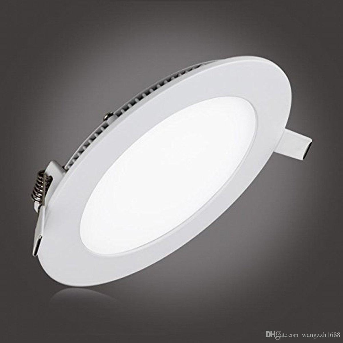 2018 Meegan 18w 8 Inch Ultra Thin Round Led Panel Light Recessed Ceiling Lights For Home Office Commercial Lighting From Zzh1688 05 Dhgate