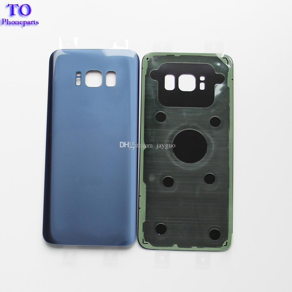 OEM Battery Door Back Cover Glass Housing with Adhesive Sticker For Samsung Galaxy S8 G850 S8 G855 Plus