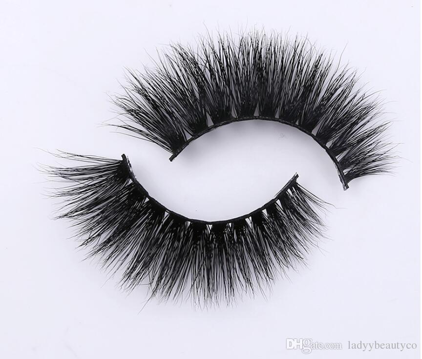 3D cils de vison 100% sibérien vison faux cils cils Nouveau désordonné luxueux 3D cils faux yeux
