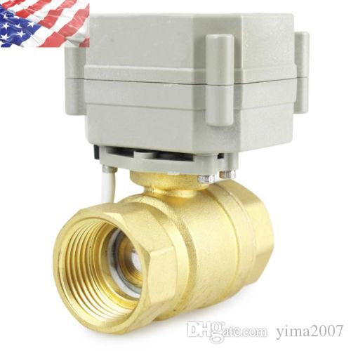 "Hot sale 1-1/4"" DN32 2 Way Brass Motorized Ball Valve, Electrical Ball Valve From China"