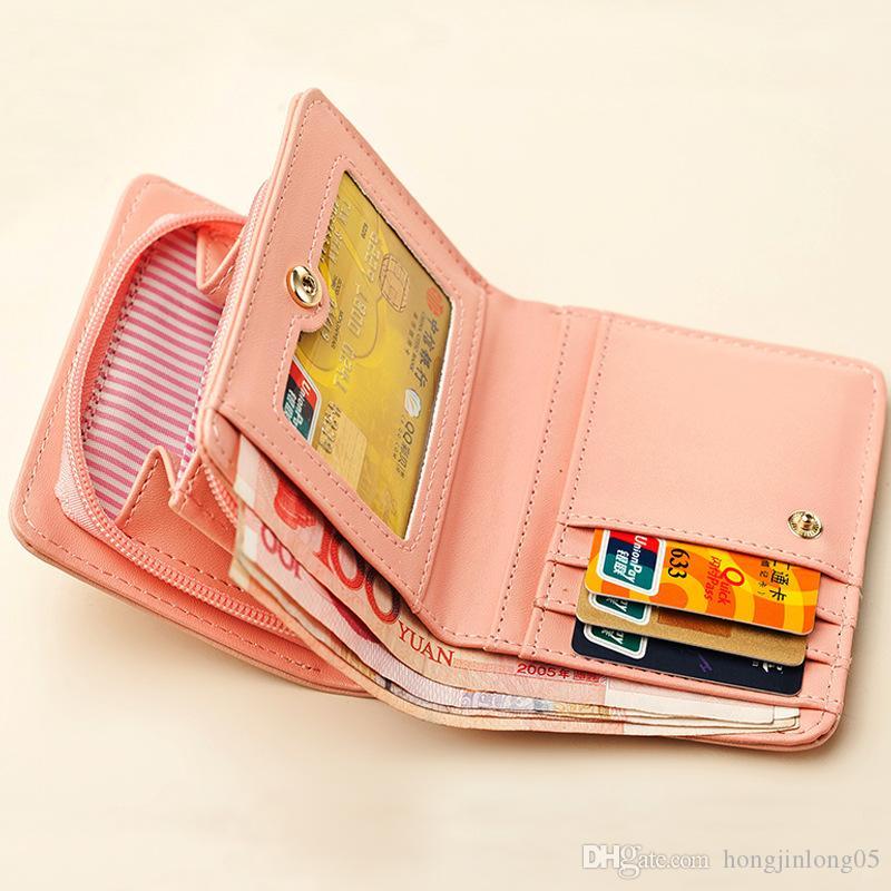 Kadınlar sevimli kedi cüzdan küçük fermuar kız cüzdan marka tasarlanmış pu deri kadın sikke çanta kadın kart sahibinin cüzdan