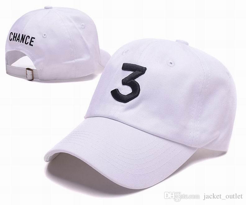 Nouveau Mode Chance 3 Strapback Casquettes Chapeau Sangle arrière Hommes Femmes Sport Snapback Baseball Cap Hip Hop Réglable Chapeau Vente