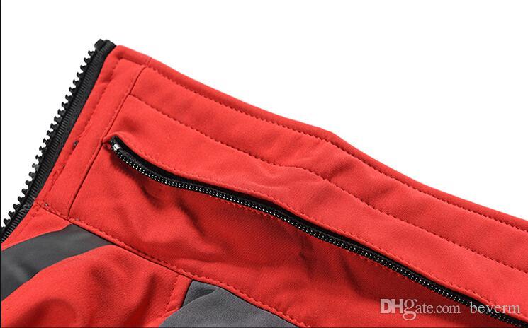 Toptan Satış - Toptan-Erkekler Su geçirmez Nefes Softshell Ceket Erkekler Açık Havada Spor Mont kadın Kayak Yürüyüş Windproof Kış Dış Giyim Yumuşak Shell ceket