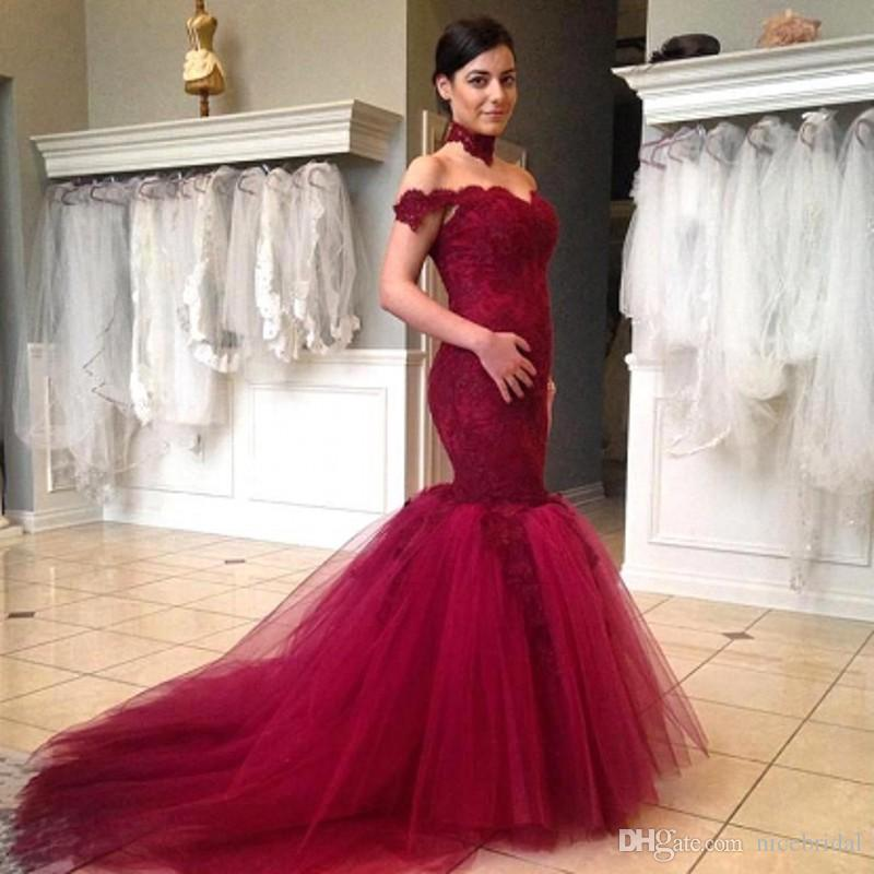 Burgundy Mermaid Prom Dresses 2017 Special Occasion Exquisite Sexy ...