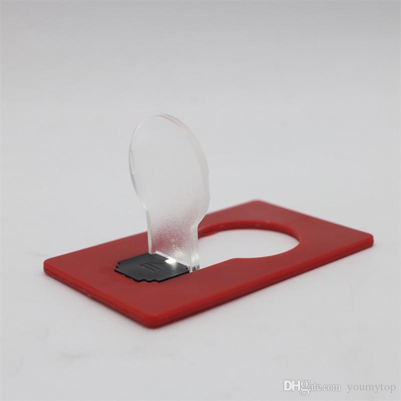 Yeni Tasarım Mini Cüzdan Boyutu Taşınabilir Cep LED Kart Işık Lambası Gece Lambası Led Yenilik Akülü