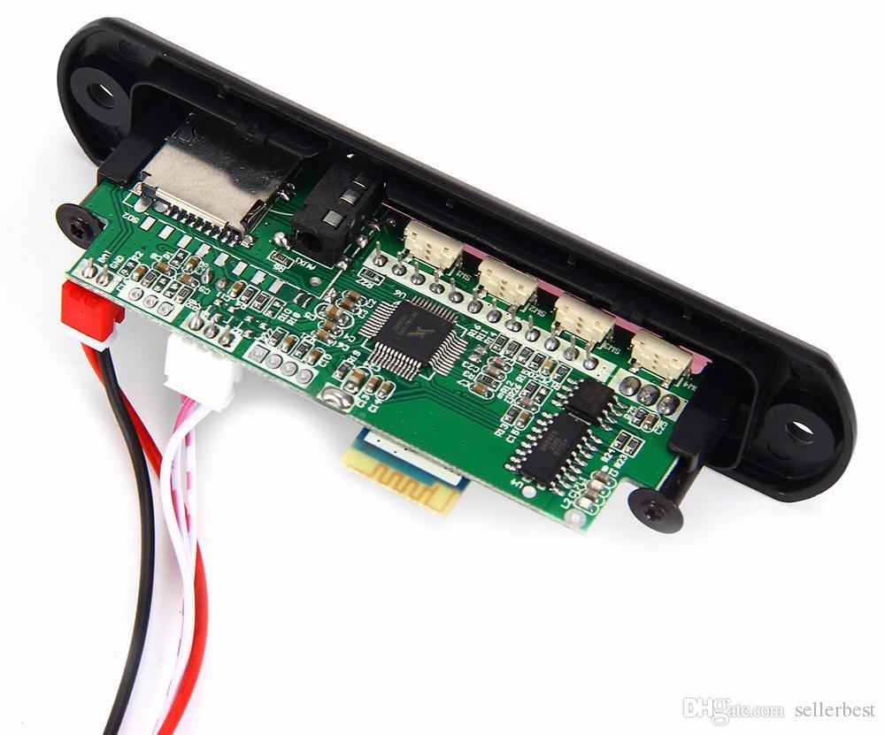 Module audio sans fil de décodeur Amplificateur de voiture Bluetooth MP3 Module de carte de décodage FM Radio USB AUX Télécommande pour véhicule
