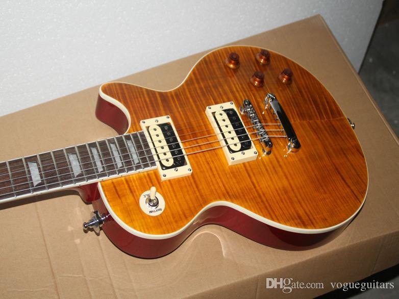 Gratis frakt Ny ankomst Gula Custom Electric Guitar Partihandel Gitarr