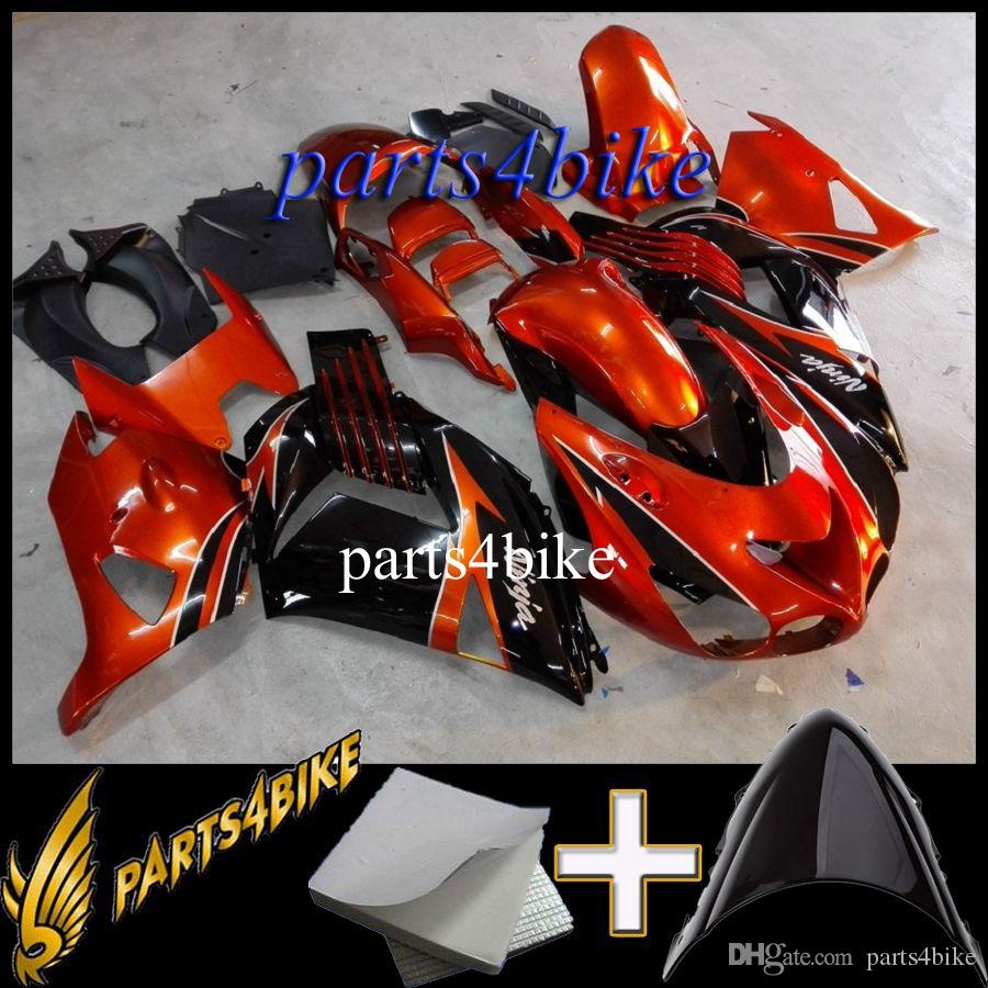ABS Fairing for Kawasaki ZX14R 06 12 ZX-14R 2006 2012 06 07 08 09 10 11 12 orange black Body Kit motorcycle panels