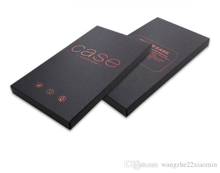 Caixa de embalagem de papel kraft de luxo para iphone 8 8plus caixa de telefone de proteção para iphone x xs max xr embalagem de papel caso magro