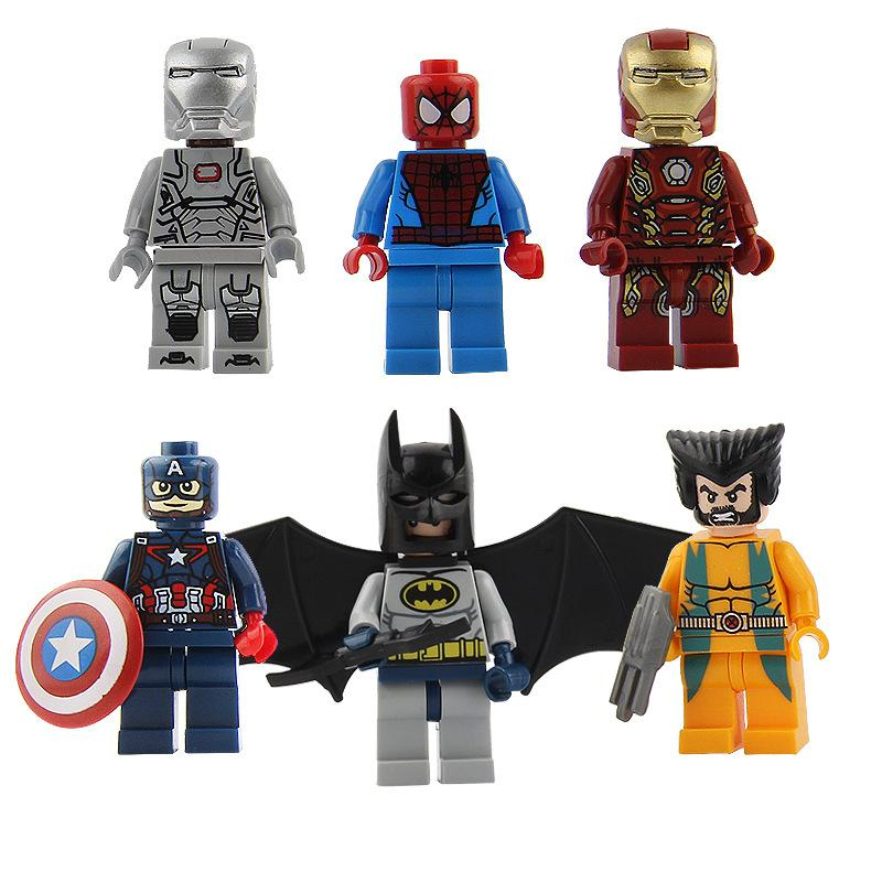 Mix styles Minifig Super Heroes Avengers Spiderman Space Wars Super Hero Mini Building Blocks Minifigures Toys Gift For Kids Figures Toys